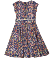 Girl -Serena 100% Cotton Belted Dress in Swimmers Print