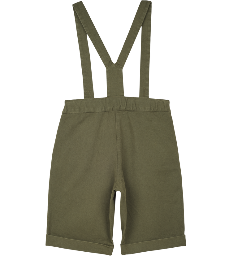 Boy - Oscar 100% Cotton Bermuda Shorts With Braces