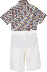Boy - 100% Cotton Classic Collar Shirt Shorts Set
