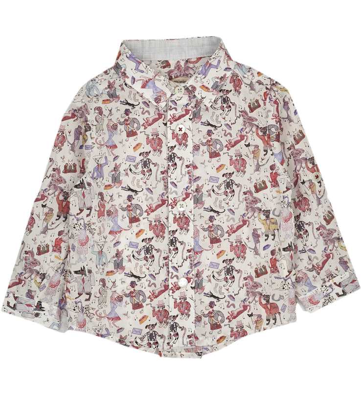 Baby boy shirt in dancing party print