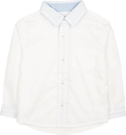 Baby Boy - 100% Cotton Classic Collar Shirt With Pocket And Internal Contrast