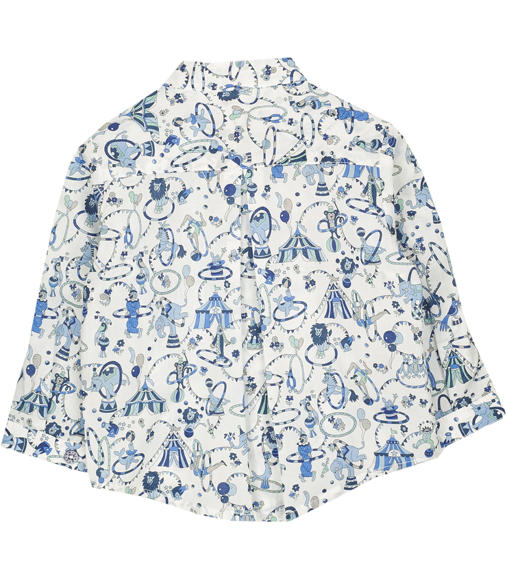 Baby Boy - Bruno 100% Cotton Grandad Shirt in Summer Print