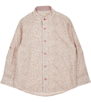 Boy - Mika 100% Cotton Grandad Collar Shirt With Internal Contrast