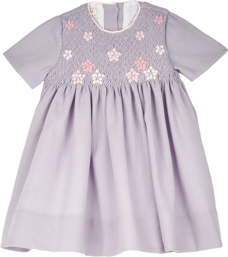 Baby Girl - Edith Wool Smocked Midi Dress