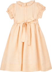 Girl - Ambra 100% Linen Smocked Dress
