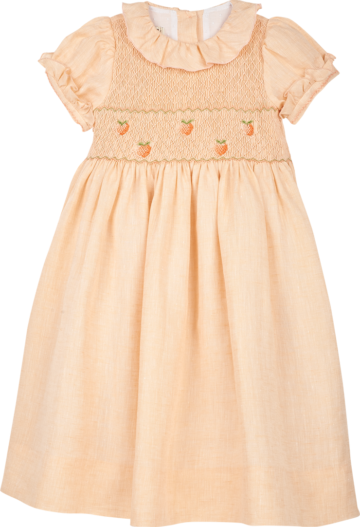Girl - Ambra Linen Smocked Dress