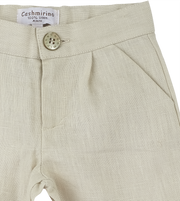 Baby Boy - Chris Linen Smart Shorts With Pockets