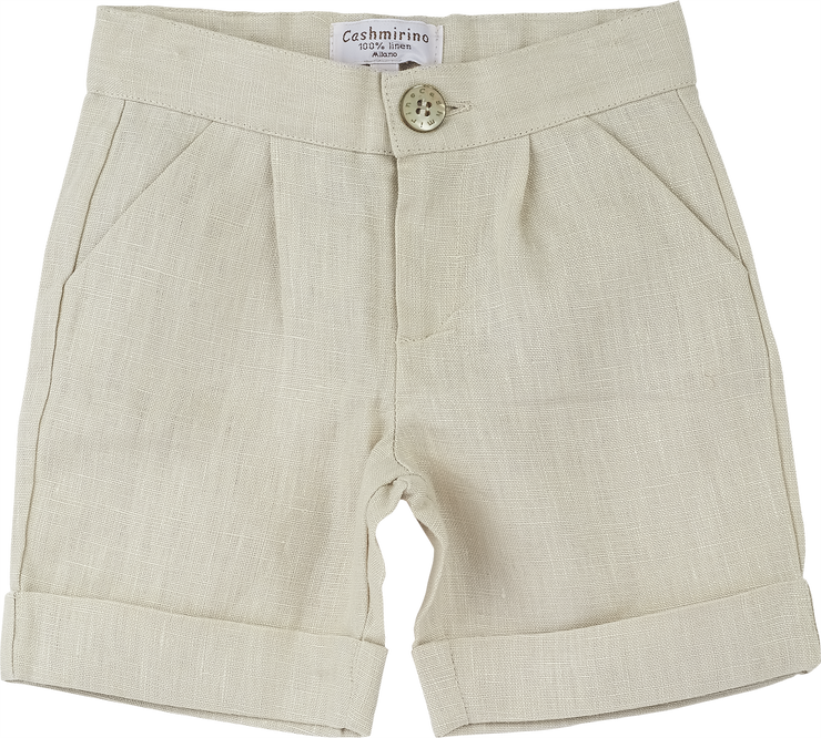 Baby Boy - Chris 100% Linen Smart Shorts With Pockets