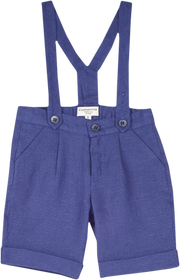 Baby Boy - Philip 100% Linen Shorts With Braces