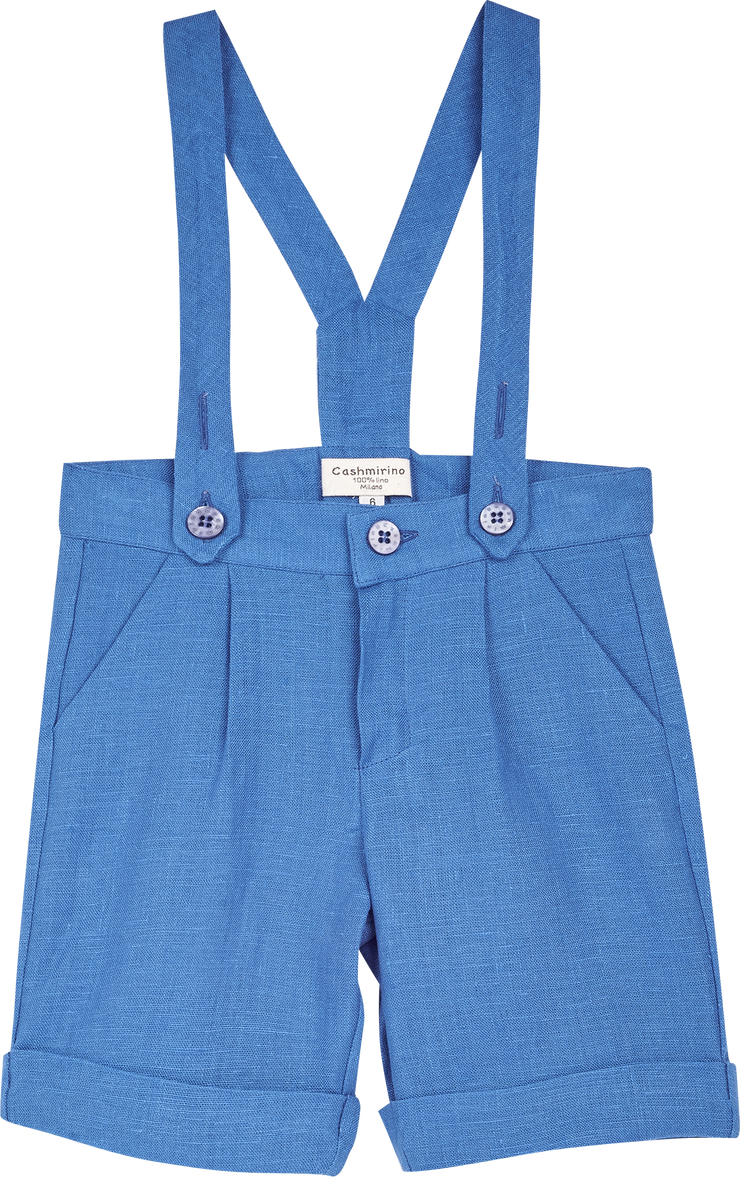 Baby Boy - Philip Linen Shorts With Braces