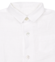 Baby Boy - Ivan 100% Linen Classic Collar Shirt With Pocket