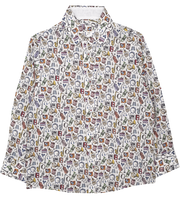Boy - Oliver Cotton Classic Collar Shirt With Gala Prints