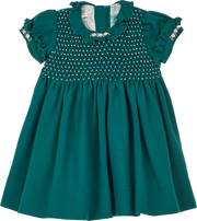 Girl - Stella Wool Smocked Dress