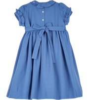 Girl - Stella 100% Wool Smocked Dress