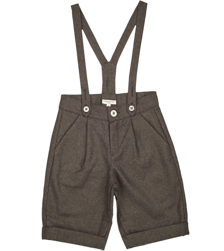 Boy - Nick 100% Wool Shorts With Braces