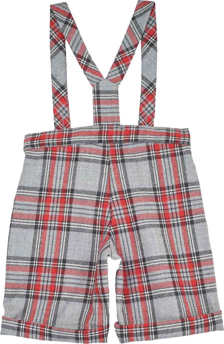 Baby Boy - Noah 100% Wool Shorts With Braces