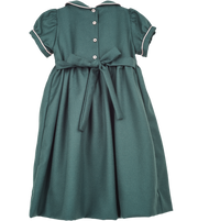 Girl - Honey Wool Smocked Dress