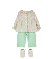 Baby Girl - Callie Cotton Blouse With Pleats and Ruffle Collar