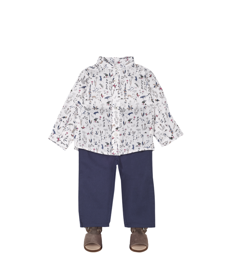 Baby Boy - Bruno Cotton Grandad Shirt