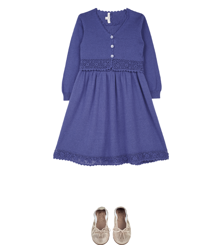 Girl - Asa Cotton Round Neck Dress