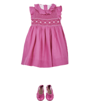 Girl- Rosita Linen Smocked Dress