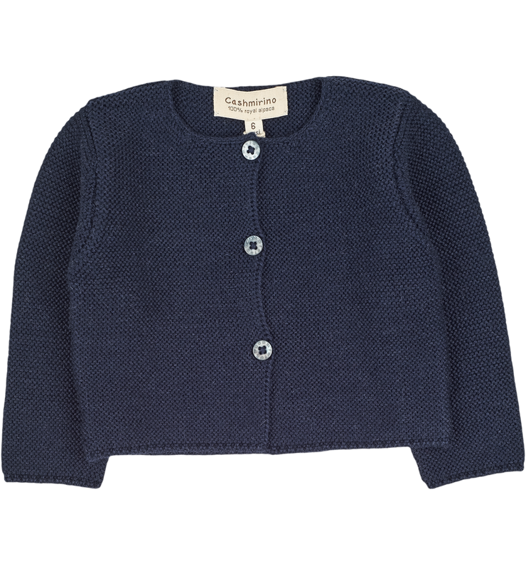 Baby Girl - Denia 100% Royal Alpaca Cropped Cardigan
