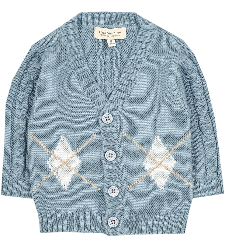 Baby Boy - Eric 100% Royal Alpaca Cardigan