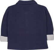 Baby Unisex - Harper Alpaca Coat Cardigan With Peter Pan Collar And Internal Contrast