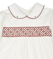 Baby Girl - Cotton Smocked Babygro