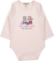 Baby Girl - Spoiled Twins Pima Cotton long sleeves illustrated bodysuit