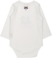 Baby Girl - Spolied Twins 100% Pima Cotton illustrated bodysuit