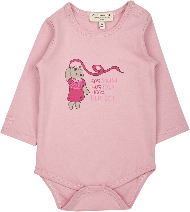 Baby Girl - Perfect 100% Sofi Pima Cotton long sleeves illustrated bodysuit