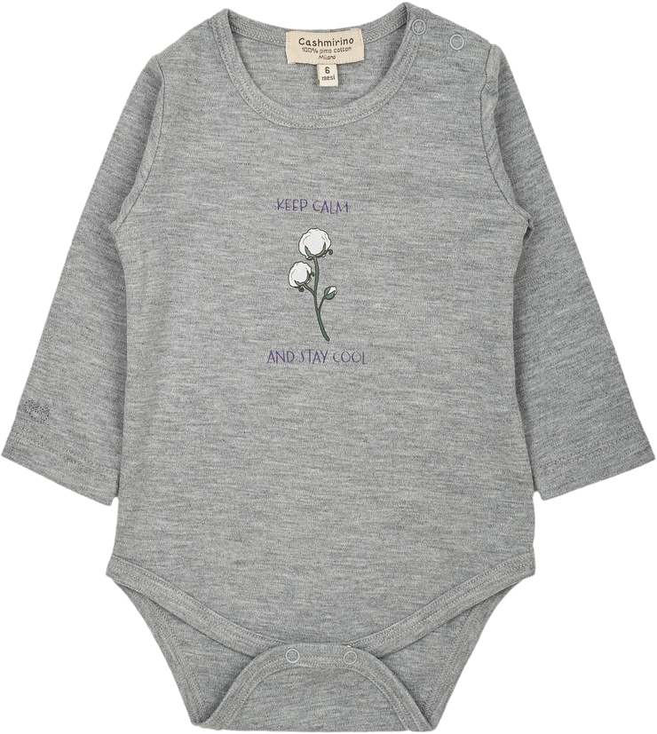 Baby Girl - Stay Cool - 100% Pima Cotton long sleeves illustrated bodysuit
