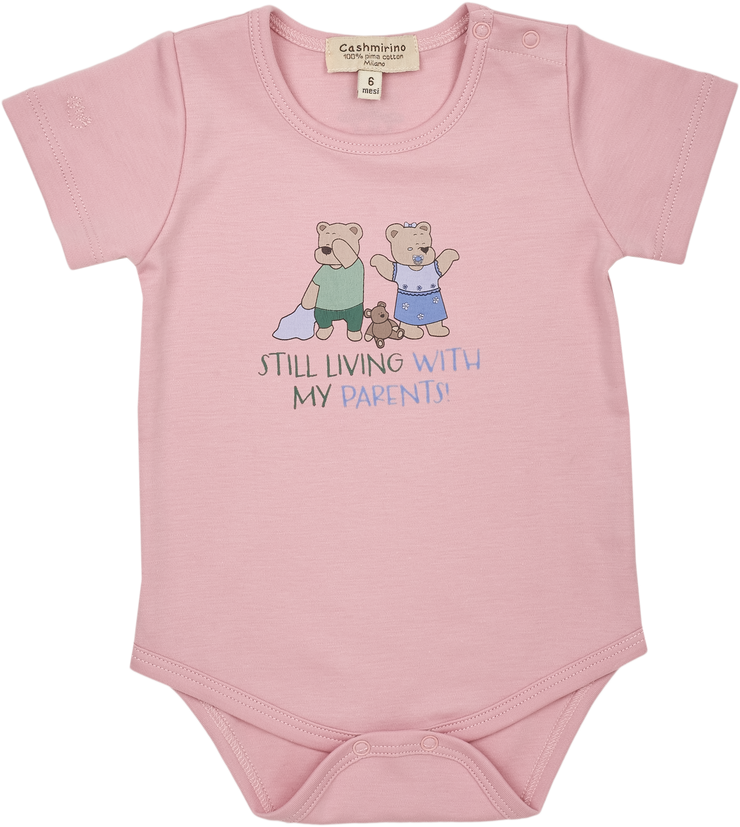 Baby Girl - Spoiled Twins 100% Pima Cotton short sleeves illustrated bodysuit