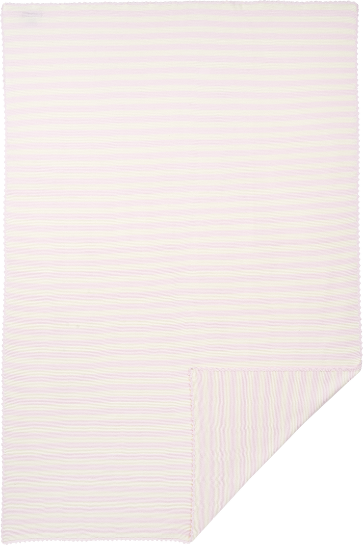Baby Girl - Marion Cotton Candy Striped Blanket