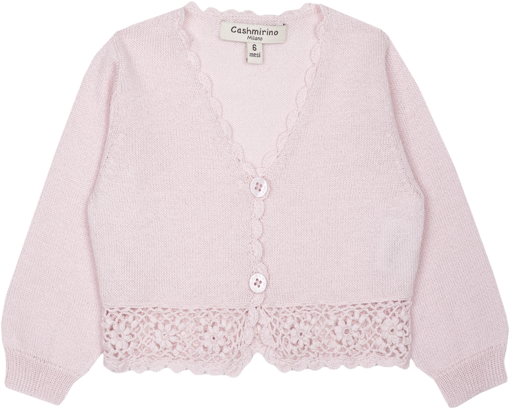 Baby Girl - Tiana Cotton V-neck Cardigan