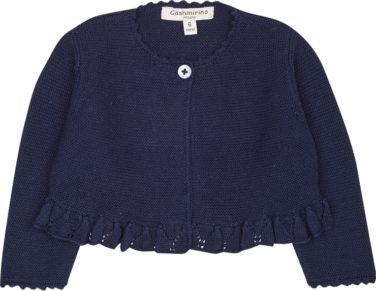 Baby Girl - Cotton Round Neck Cardigan