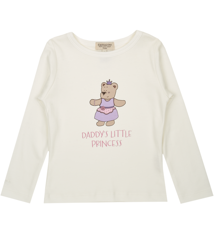 Girl - Princess Sofi Pima Cotton long sleeves illustrated T-Shirt