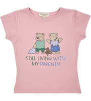 Girl - Spoiled Twins Pima Cotton short sleeves illustrated T-Shirt
