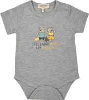 Baby Boy - Spoiled Twins 100% Pima Cotton short sleeve printed bodysuit