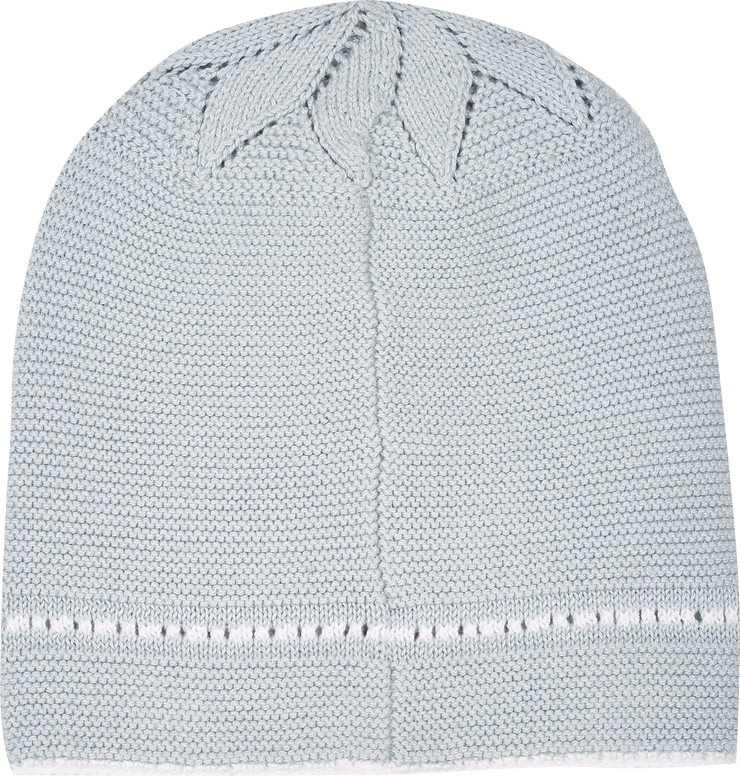 Baby Boy - Georgey Cotton Hat With Contrasting Borders And Crochet Detail