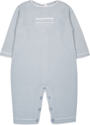 Baby Boy - Georgey Cotton Romper With Contrasting Borders