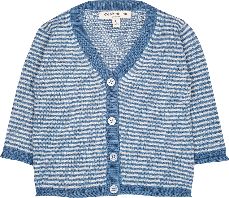 Baby Boy - Andre Cotton V-neck Cardigan And Shorts Set