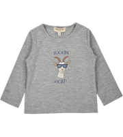 Baby Boy - Lookin' Goat Pima Cotton long sleeve printed T-Shirt
