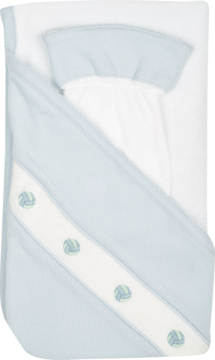Baby Boy - Cotton Hooded Towel With Wash Mitt