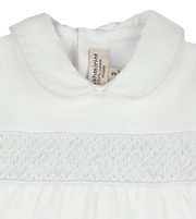 Baby Unisex - Cotton Smocked Babygro With Peter Pan Collar