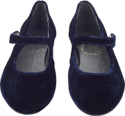 Girl - Velvet Mary Jane Shoes With Strap