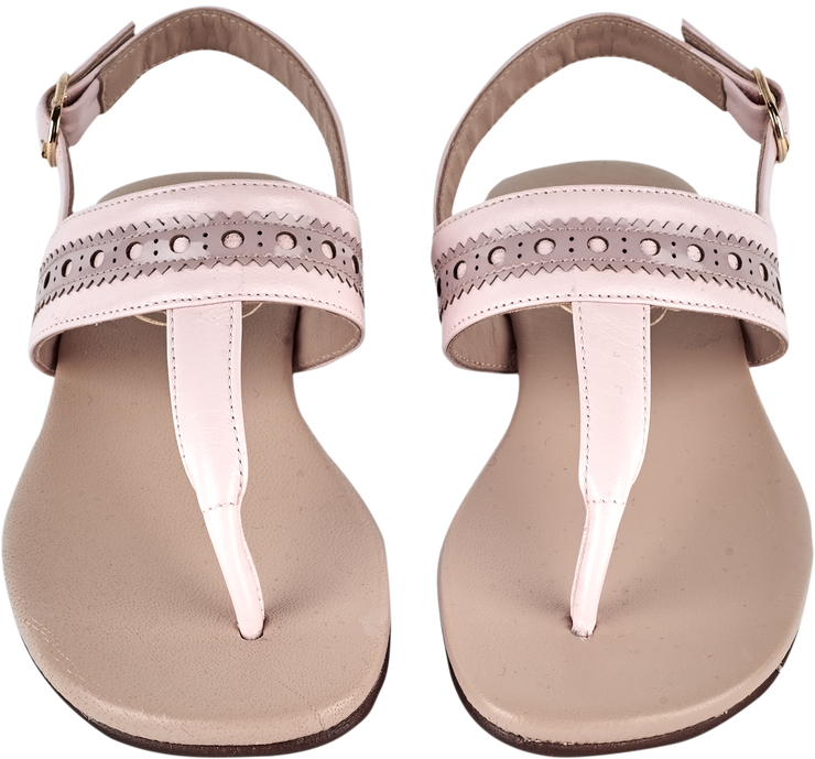 Girl - Leather Sandals With Cut Out Detail