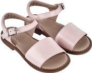 Girl - Leather Classic Sandals With Ankle Strap