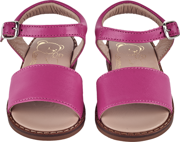 Baby Girl - Leather Classic Sandals With Ankle Strap